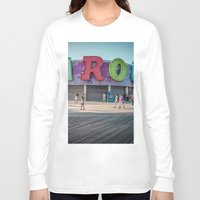 carousel Long Sleeve T-shirts featuring Carousel  by MikeMartelli