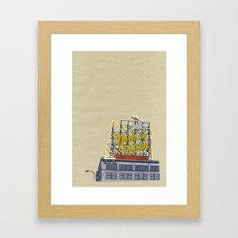 Portland print PDX Framed Art Print