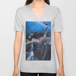 Blue Lightning Unisex V-Neck