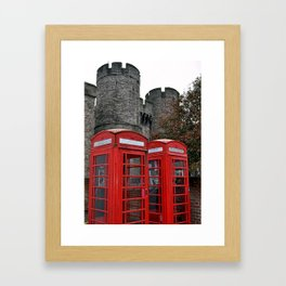 Phone Boxes in Canterbury Framed Art Print