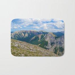 Views from the top of Sulphur Skyline in Jasper National Park, Canada Bath Mat