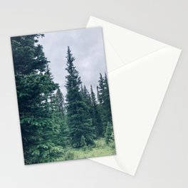 blues and evergreens Stationery Cards