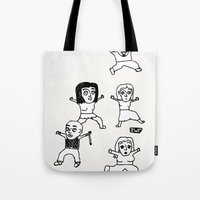 zombies Tote Bags featuring zombies by szajmon / zawar
