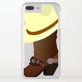 Cowboy Hat Clear iPhone Case