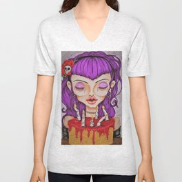 Zombie Birthday Unisex V-Neck