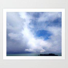Coastal Clouds Seascape Cancale Bretagne France Art Print