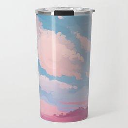 Cherry Blossom Sky Travel Mug