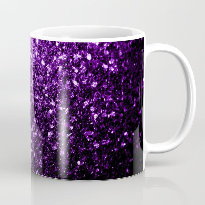 Beautiful Dark Purple glitter sparkles Coffee Mug