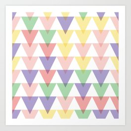 geometric background seamless pattern Art Print