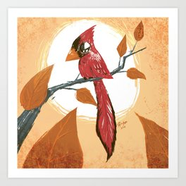 Autumn Cardenal Art Print