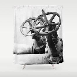 Pipeline valves Shower Curtain