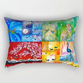 Rainbow Colors Rectangular Pillow