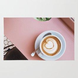 pink latte Rug