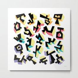 Glyph 13 Metal Print