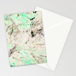 Mint Granite Stationery Cards