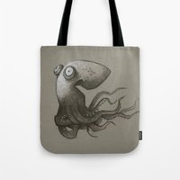 octopus Tote Bags featuring Octopus by Tim Probert