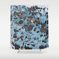 Glacial Gold :: Alaskan Ice Shower Curtain