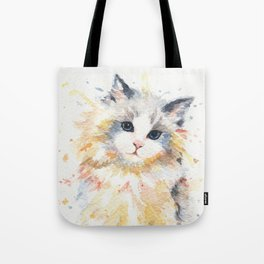 Blue-Gem Ragdoll Cat Tote Bag