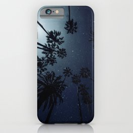 Palm Trees, Night Sky, Stars, Moon iPhone Case