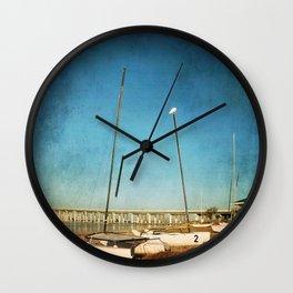 Sail Boats on the Beach Wall Clock