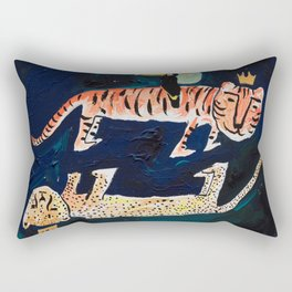 Tiger, Cheetah, Toucan Painting Rectangular Pillow