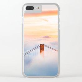 Golden Gate Bridge at Sunrise from Hawk Hill - San Francisco, California Clear iPhone Case