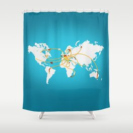 The Spaghetti Connection Shower Curtain