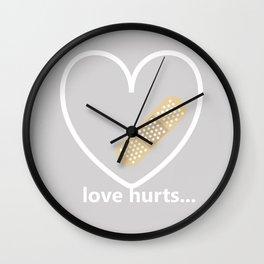 LoveHurts Wall Clock