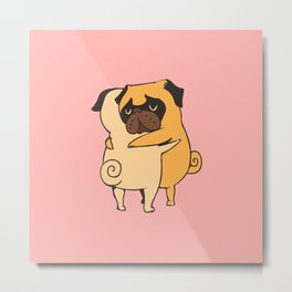 Pug Hugs Metal Print
