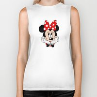 minnie mouse Biker Tanks featuring Very cute Minnie Mouse by Yuliya L