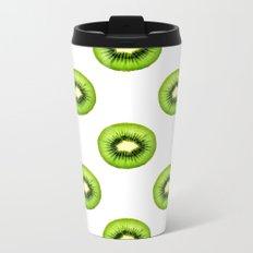 Kiwi Fruit Slice Metal Travel Mug
