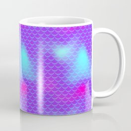 Violet and Blue Mermaid Tail Abstraction. Magic Fish Scale Pattern Coffee Mug