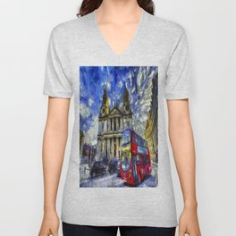 Vincent Van Gogh London Unisex V-Neck