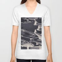 swim V-neck T-shirts featuring Swim by Marte Stromme