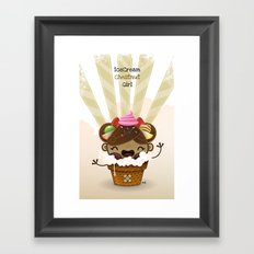 Ice Cream Chestnut Girl Framed Art Print