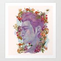 STURDMAN WITH FLOWER DECORATION Art Print
