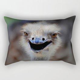 Smiling Ostrich  Rectangular Pillow