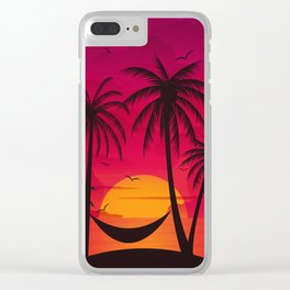 Summer Paradise Clear iPhone Case