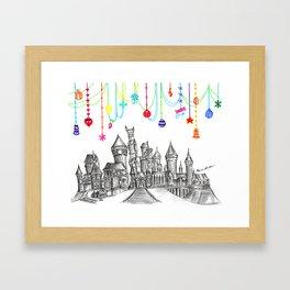 Party at Hogwarts Castle! Framed Art Print
