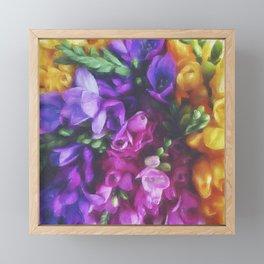 Freesias Framed Mini Art Print
