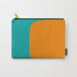 Clarity - Orange and Turquoise Minimalist Carry-All Pouch