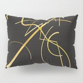 Kandinsky - Black and Gold Pillow Sham