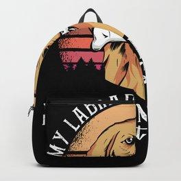 Labrador Retriever T-Shirt Gift Dog Backpack