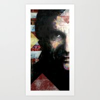 johnny cash Art Prints featuring Johnny Cash by Glen Ronald