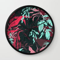 jungle Wall Clocks featuring Jungle by theroyalbubblemaker