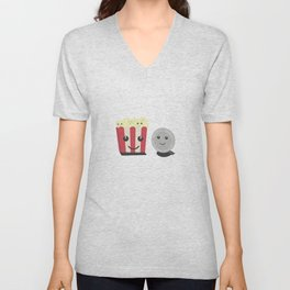 Cinema movie pocorn with faces Unisex V-Neck