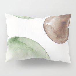 18|181104 Australian Leaf Green & Brown Earth Orbs | Watercolour Circle Abstract Geometrical Pillow Sham