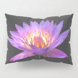 Purple Lotus Flower Geometric style Pillow Sham