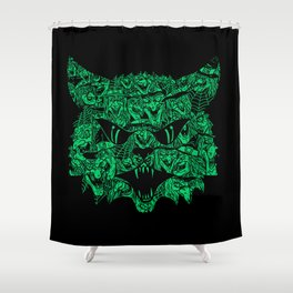 Kitty Witches Shower Curtain