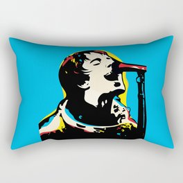 Liam Gallagher Quote Portrait Rectangular Pillow